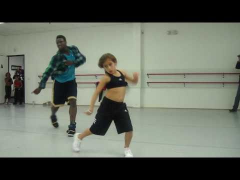 Ade and Simrin at his hip hop master class