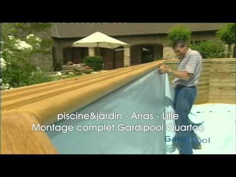 Montage complet piscine hors sol Gardipool Quartoo  Piscine et Jardin  YouTube
