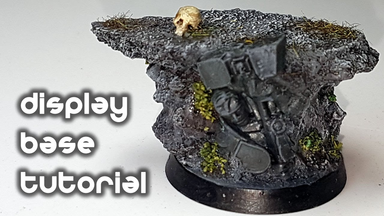 How to Make a Display Base for Warhammer Miniatures