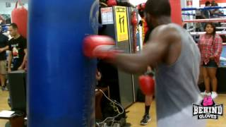 TERRELL GAUSHA WORKOUT HIGHLIGHTS AS HE PREPARES FOR MARTINEZ FIGHT