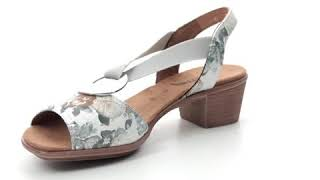 Ara Ballina 91 Wide 56407-73 Floral print Heeled Sandals