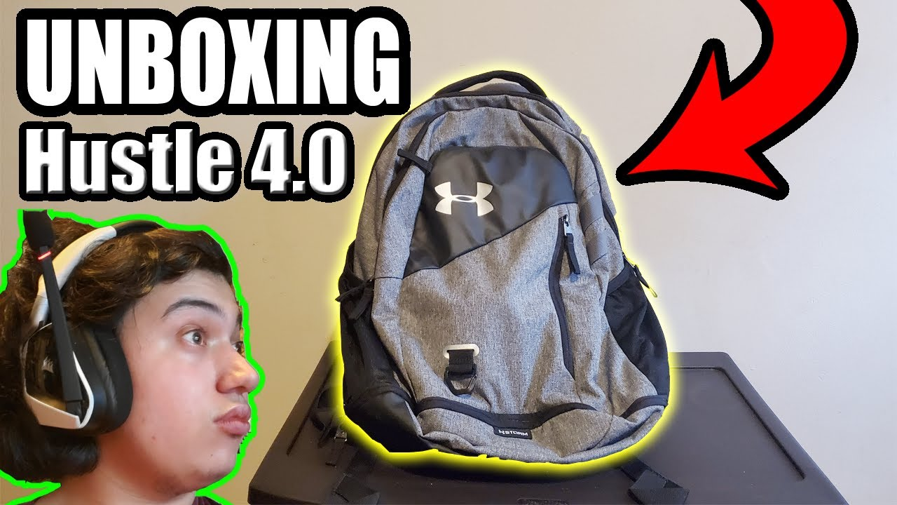 adyacente Condición brindis  Unboxing Under Armour Hustle 4.0 Backpack + First Look! - YouTube