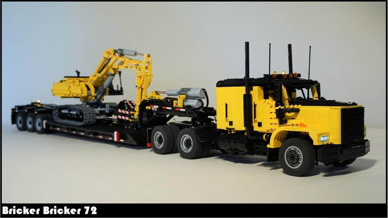 how to build a simple lego semi truck