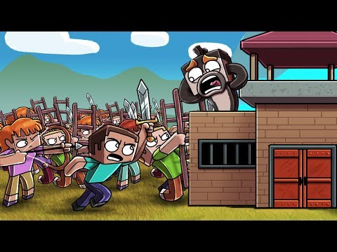 1000 Minecraft Fans Siege My Base!