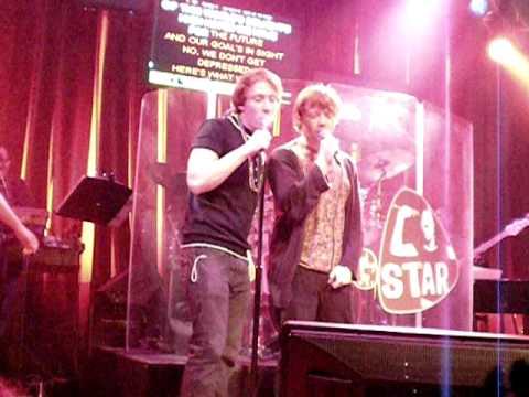 Rupert & stunt double sing Karaoke