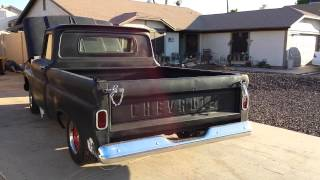 1964 C10 stock 350 open headers