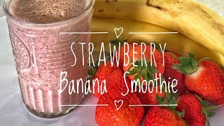 Strawberry banana smoothie-strawberry smoothie healthy smoothies weight loss quick how to make...