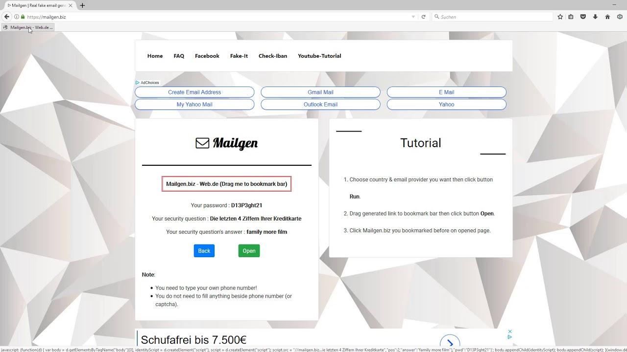 🚨🔥 Fake Email erstellen / Generator mit Mailgen [Tutorial / Deutsch]