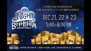 A Night in Bethlehem in Sacramento  Ночь в Вифлееме в Сакраменто