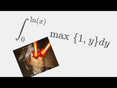 INTEGRATING ONE WEIRD SHARPY BOI ( integral max{1,y} from 0 to ln(x) )