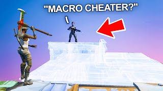 I got a MACRO CHEATER to make me float in Fortnite... (fastest editor)
