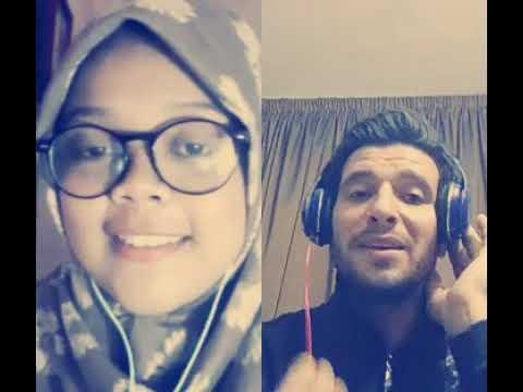 Smule Hasbi Santri Merdu duet Pria Arab Tampan Qomarun قمر سيدناالنبي