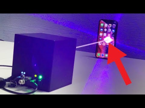 IPHONE XS VS LASER CUBE! MINI-DEATHSTAR INSANITY!