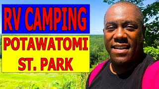 RV Camping Potawatomi Stąte Park Sturgeon Bay Door County Wisconsin