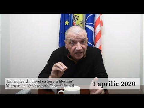 """Emisiunea """"În Direct Cu Sergiu Mocanu"""" Din 1 Aprilie2020"""