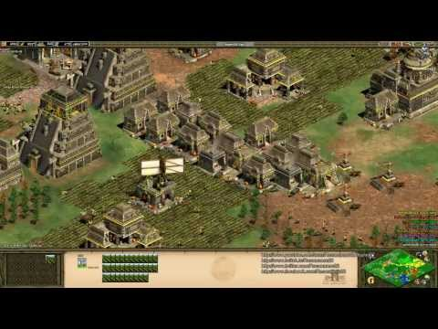 Aoe2 HD: 4v4 Black Forest (Aztecs, Economic Boom) (8/3/13)
