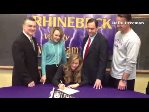 Kathryn Bergin of Rhinebeck High School signs letter of intent to Lehigh University in Bethlehem, Pe