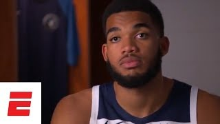 Karl-Anthony Towns on Jimmy Butler and team's expectations going into the 2018 NBA season | ESPN