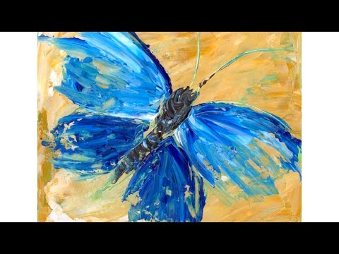 Beginner Acrylic Tutorial Abstract Butterfly Painting