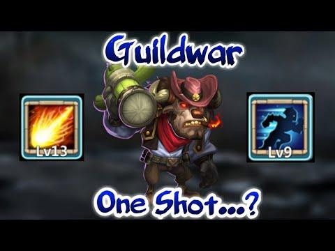 Guildwar | Mino Bomb | 13 Skill Mino In Action | Beast Mino | Vs 1.25million Might | Castle Clash