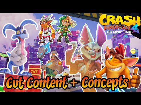 Crash Bandicoot 4: It's About Time Cut Content, Unused Characters and Scrapped Concepts