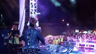 Big start DJ Honey G at 916 Malaysia day Miri street party 2013