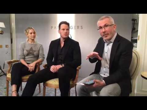 Jennifer Lawrence and Chris Pratt AlloCiné Paris Passengers interview