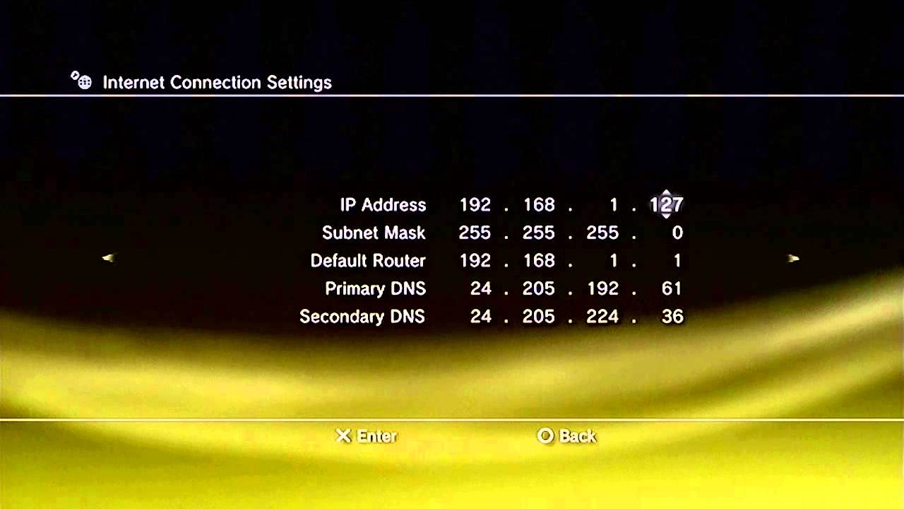 How To Get Faster Internet On Ps3 Static Ip Youtube