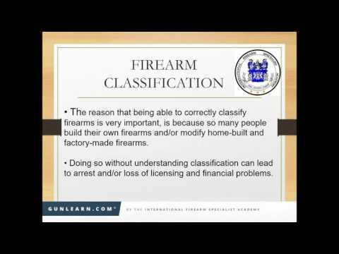 SDI Webinar May 2016: Firearms Classification, Featuring Daniel G  O'Kelly