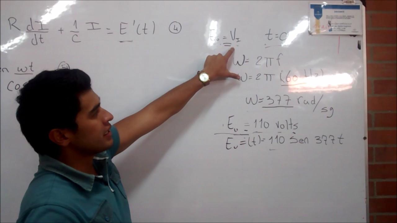 Circuito Rlc Ecuaciones Diferenciales : Circuito mixto rlc ecuaciones diferenciales youtube
