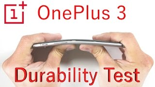 OnePlus 3 Bend Test - Scratch Test - Burn Test - Durability video Video