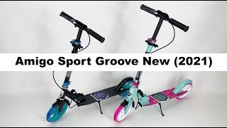Самокат двухколесный Amigo Sport Groove  New 2021 | Детский самокат со светящимся колесам и