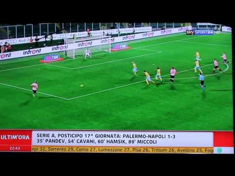 Palermo-Napoli 1-3 SKY HD - Ampia Sintesi - Highlights - All Goals - Serie A 2011-2012