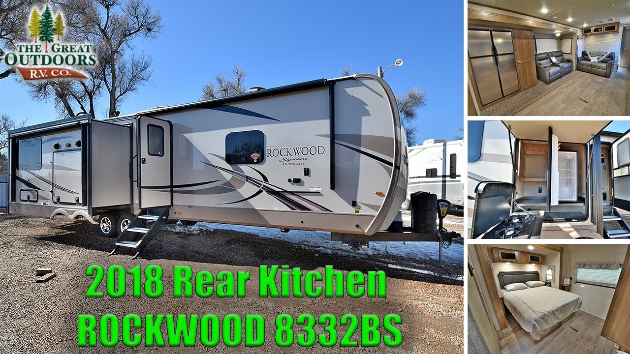 2018 Rear Kitchen ROCKWOOD 8332BS Camper RV Travel Trailer Outside Kitchen