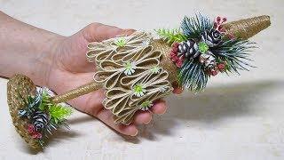 Ёлочка из джута. Новогодние поделки и подарки своими руками.