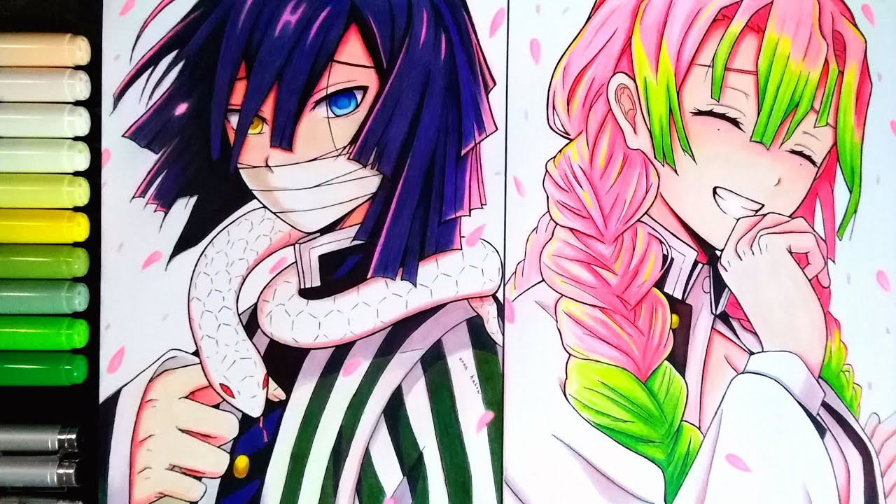 Mitsuri Kanroji And Iguro Obanai Kimetsu No Yaia Demonslayer Drawing Youtube Those who have only seen the anime do not know the beauty and adorable nature of this couple just yet, but manga readers know they have become one of the sweetest (and saddest) pairings of the show. mitsuri kanroji and iguro obanai kimetsu no yaia demonslayer drawing