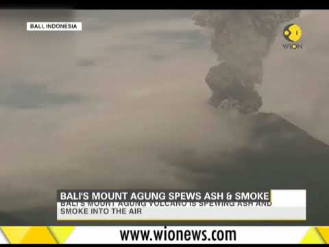 Bali's Mount Agung spews ash and smoke