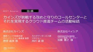 カインズが挑戦する攻めと守りのコールセンターとそれを実現するクラウド推進チームの活動秘話 | AWS Summit Tokyo 2019
