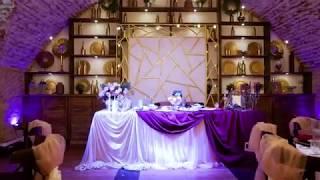 Оформление зала на свадьбе в кафе Буржуй