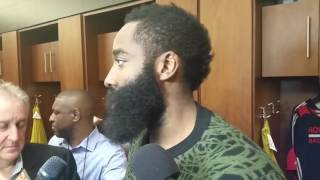 James Harden after Rockets beat Bucks