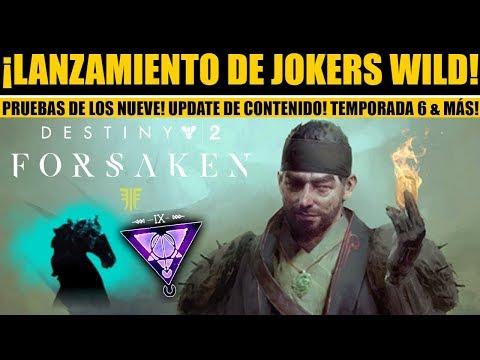 Destiny 2: Lanzamiento de Jokers Wild! Pruebas de los Nueve! Bungie Revela Temporada 6 & Nuevo DLC! thumbnail