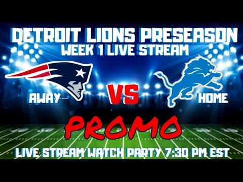 DETROIT LIONS PRESEASON WEEK ONE PROMO