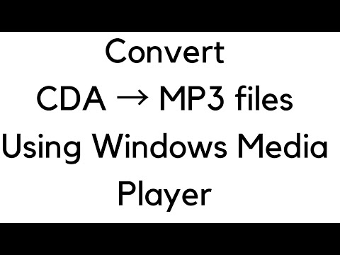 How to copy CDA files and save them into mp3 format
