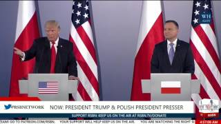 President Trump Questioned by MSNBC Reporter on Russia in Poland