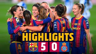 HIGHLIGHTS | Barça Women 5-0 Espanyol | Victory at CAMP NOU! 🏟️