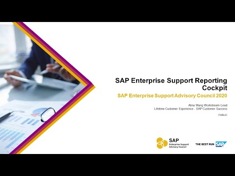 Overview: SAP Enterprise Support Reporting Cockpit   ESAC 2020