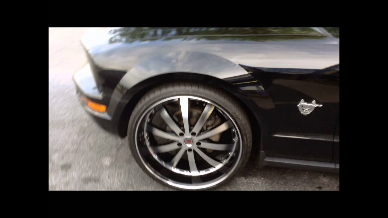 Ford Mustang Lease >> 2009 Ford Mustang sitting on 22inch wheels by Rimtyme of ...