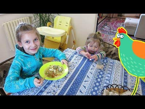 Суп лапша из домашней курицы
