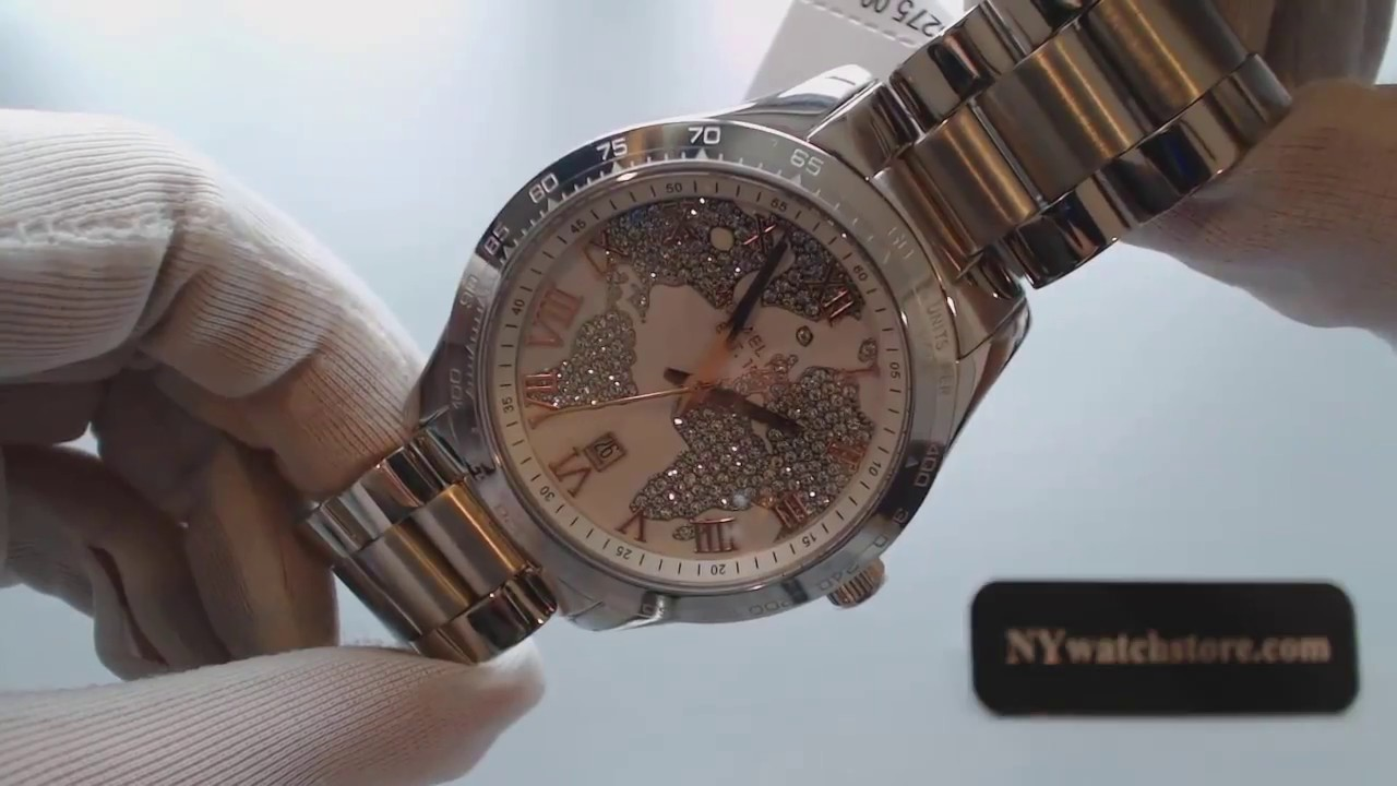 03c6ff888470 Women s Michael Kors Layton Stainless Steel Glitz Watch MK5958 - YouTube