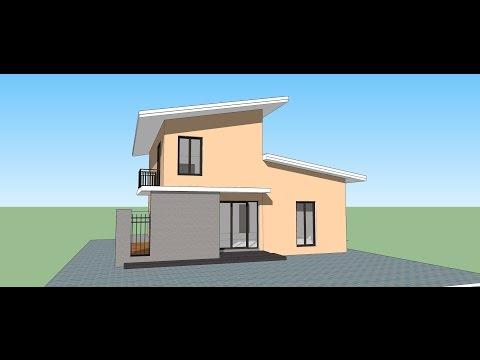 Google sketchup speed building modern house doovi for Modern house design sketchup